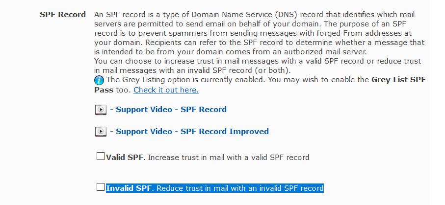 Invalid SPF Record