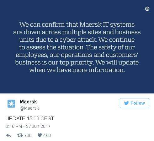 Petya Maersk Ransomware