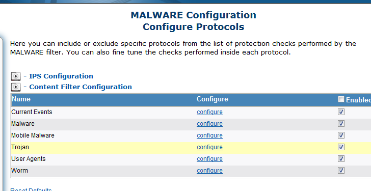 SecPoint Protector Malware Block