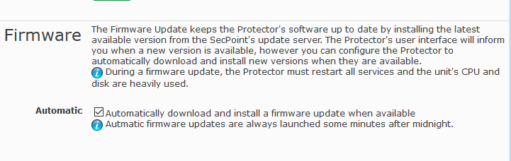 SecPoint Protector Auto Firmware