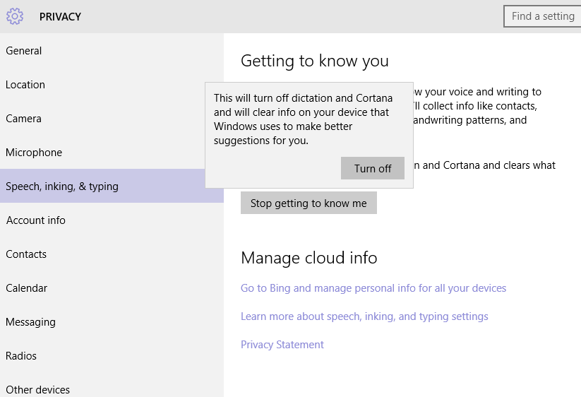 Windows 10 Privacy Speech